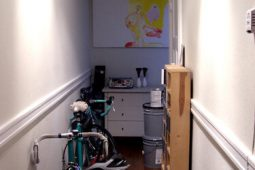 cluttered hallway